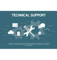 Technical support concept vector image vector image
