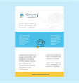 template layout for brain circuit comany profile vector image vector image