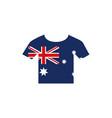 tshirt with flag emblem australia icon on white vector image vector image