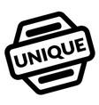 unique black stamp vector image vector image