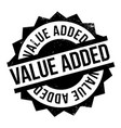 value added rubber stamp vector image vector image