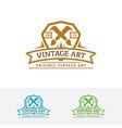 vintage art logo vector image vector image