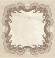 vintage frame ornamental floral background vector image vector image