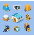 Warehouse Equipment vector image vector image