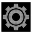 white halftone cog icon vector image vector image