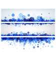 Winter banners with blue snowflakes vector image vector image