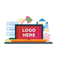 Work Place - flat design with vector image vector image