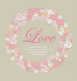 wreath of roses multicolored sweet for valentine vector image vector image
