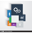 Infographics template cubes and squares vector image