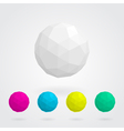 Set of abstract spheres made of geometric shapes vector image