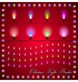abstract of colorful lights on red background vector image
