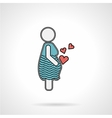 Pregnant woman flat icon vector image
