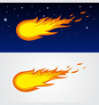 Comets caricature vector image
