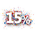 15 sale sign vector image vector image