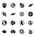 16 globe icons vector image vector image