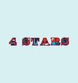 4 stars concept word art vector image vector image