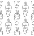 black and white carrots seamless pattern for vector image