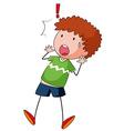 Boy surprised vector image vector image
