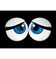bulging eyes vector image