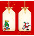 christmas funny labels vector image