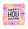 colorful festive holi splash abstract background vector image vector image
