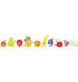 cute bio fruit cartoon for babies standing in raw vector image