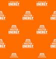 drop water energy pattern orange vector image vector image