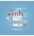 flat design shopping concept vector image vector image