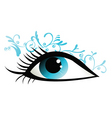 floral eye design vector image vector image