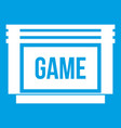 game cartridge icon white vector image
