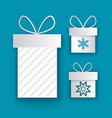greeting cards with wrapped gift boxes snowflakes vector image