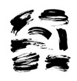 grunge brush strokes collection vector image