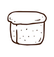 Hand Drawn Loaf of Bread vector image