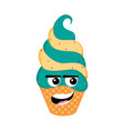 happy sundae emoticon vector image