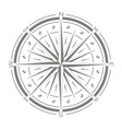 icon with compass rose for your design vector image