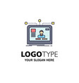 interface website user layout design flat color vector image vector image
