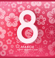 international womens day greeting card vector image vector image