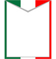 italian abstract flag frame vector image vector image