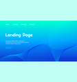 landing page template abstract blue vector image vector image