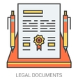 Legal documents line icons vector image vector image