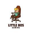 logo little boss cute cartoon vector image