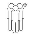 men pictogram cartoon vector image