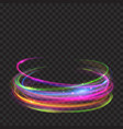 multicolored glowing fire rings with glitters vector image vector image