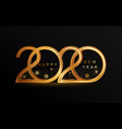 new year 2020 elegant golden banner vector image