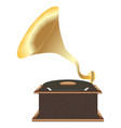 old classic vinyl player vector image