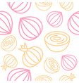 onion seamless pattern outline vegetable set for vector image vector image