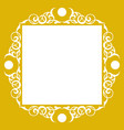 ornamental luxury frame hand crafts vector image vector image
