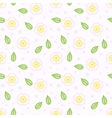 Pattern with stylized sakura flowers vector image vector image