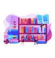 public library concept vector image