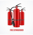 realistic detailed 3d fire extinguisher concept on vector image